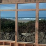 beach view through construction